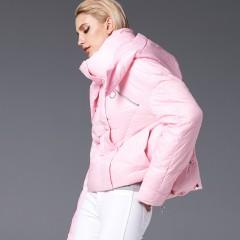 СКИДКА 3DIMENSIONS короткая пуховая куртка с приспущенными плечами рукавами, модная розовая зефирка пуховик черный цвет