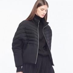 s.deer короткая стеганая белая черная пуховая куртка в стиле оверсайз на молнии без капюшона