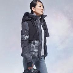 MISUN пуховая куртка космос приталенная с отстегной жилеткой,черный и синий цвет,новинка сезона 2016-2017