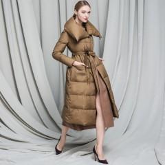 RCAT for woman child длинное пуховое пальто с высоким воротником и шерстяными вставками