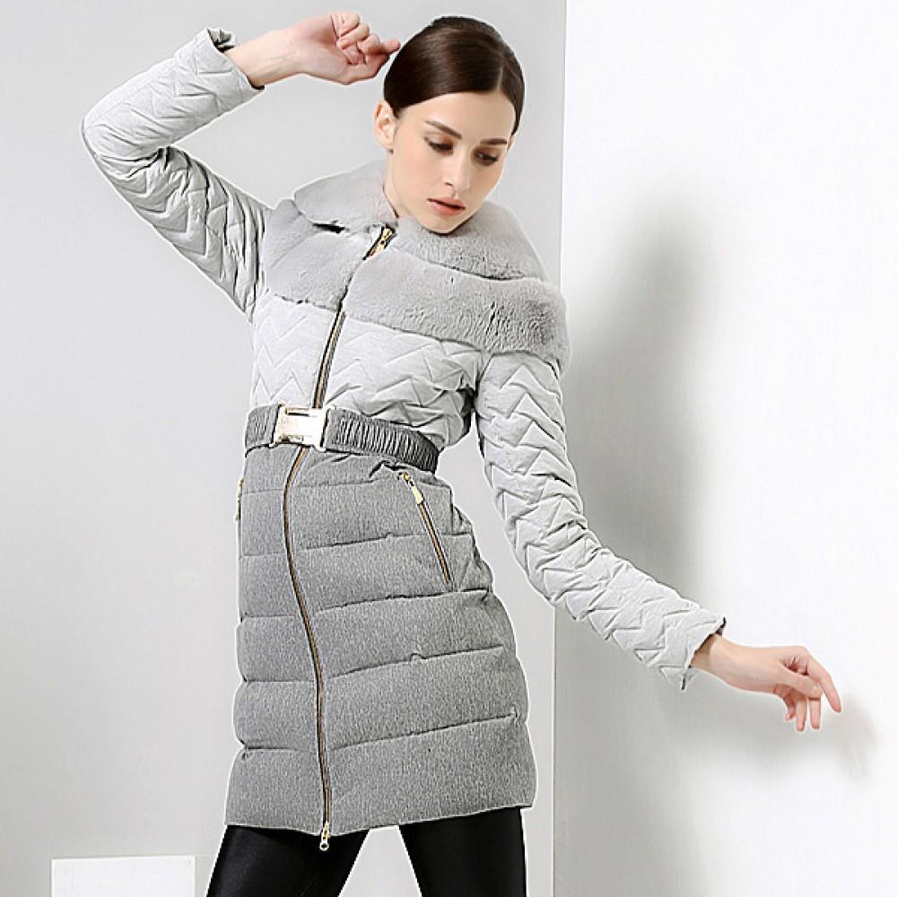 ROYALCAT зимний укороченный пуховик с меховой отделкой воротника,европейский дизайн,теплая зима