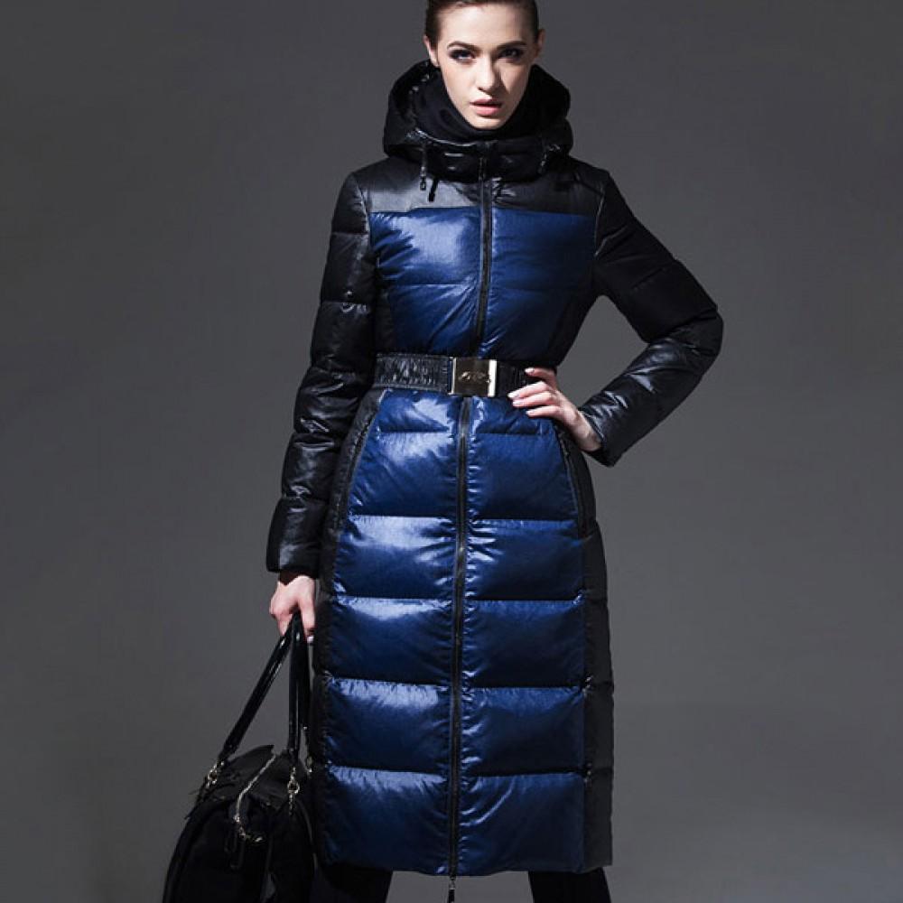 ROYALCAT качественный теплый зимний пуховик класса LUX,сине-черный с капюшоном стильный casual