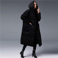 3DIMENSIONS вельветовый пуховик женский зимний длинный цвета графит черный коричневый с капюшоном и большими карманами